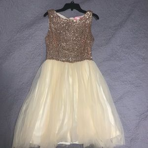 Dresses & Skirts - gold and champagne dress